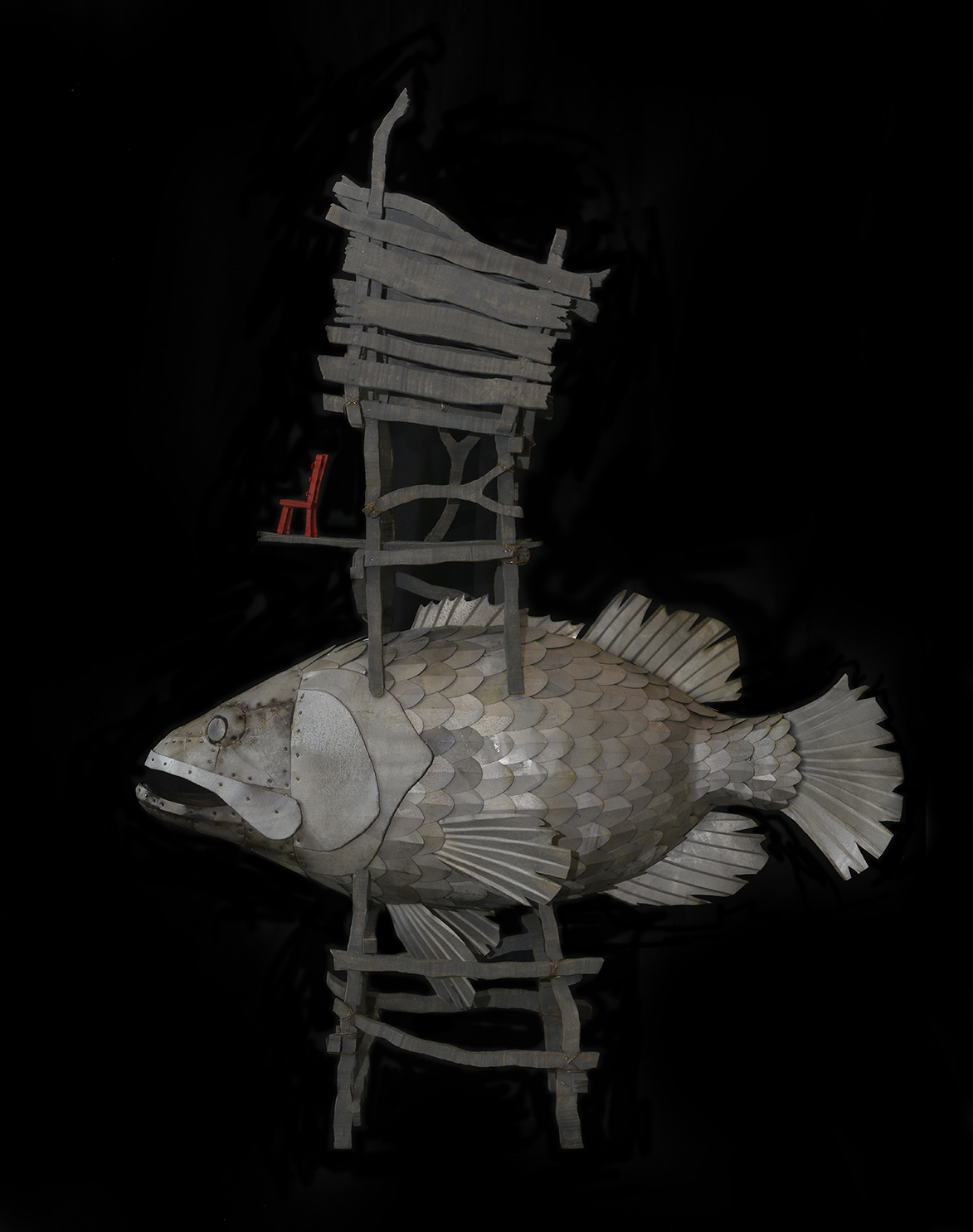 Goliath Grouper and Red Chair